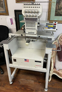 Brother BAS-416 9 Needle Single Head Commercial Embroidery Machine