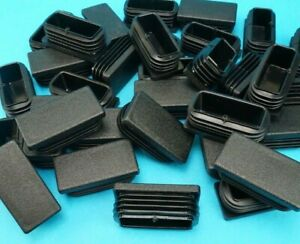50mm x 25mm RECTANGLE Plastic End Blanking Caps Tube Bung Inserts - Trailer