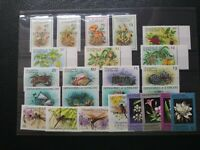 St Vincent Grenadines: 6 Diff MNH Plant & Animal SPECIMEN sets, 1984-86