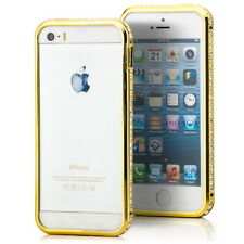 Schutz Hülle für Apple iPhone 5 5S SE Bumper Strass Case Cover Tasche Champagner