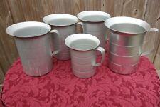 Lot of 5 aluminum measuring cups