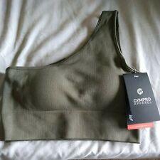 New listing Women's Padded Sports Bra gympro apparel khaki size medium bnwt