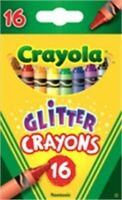 Crayola 52-3716 Glitter Crayons Assorted Colors 16 Count