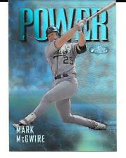 1997 TOPPS FINEST SILVER POWER REFRACTOR PARALLEL MARK MCGWIRE RARE!