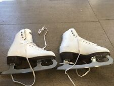 Girls size 3 Riedell model 33 Med Figure Ice Skates Kids Youth Onyx Quest Blades