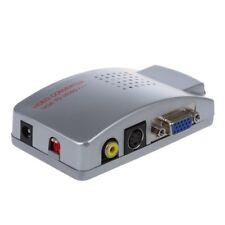Adaptador Convertidor Caja VGA a TV AV Compuesto RCA S-Video para Computado K4T2