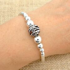925 Sterling Silver Bali Beads Bracelet Jewellery