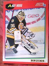 ICE  HOCKEY   SCORE  1991 #90    ANDY  MOOG   BOSTON  BRUINS