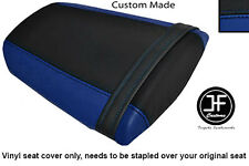 ROYAL BLUE & BLACK VINYL CUSTOM FITS HONDA CBR 600 RR 07-12 REAR SEAT COVER ONLY