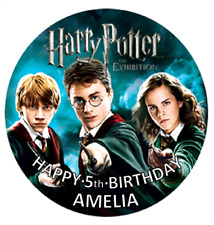 HARRY POTTER Personalised Edible Icing  ROUND Cake Topper Decoration Image