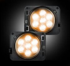 Recon 264135CL Chrome LED Side Marker Lights for 07-17 Jeep Wrangler