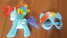 My Little Pony Flip and Whirl Rainbow Dash Pony and Mask EUC