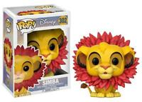 "New Pop Disney: The Lion King - Simba (Leaf Mane) 3.75"" Funko Vinyl COLLECTIBLE"