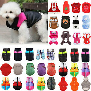 Pet Dog Puppy Winter Warme Jumper Sweater Clothes Cat Coat Vest Jacket Outwear