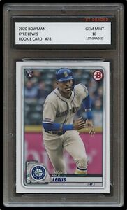 KYLE LEWIS 2020 BOWMAN (TOPPS) 1ST GRADED 10 ROOKIE CARD RC MLB SEATTLE MARINERS