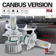 200W 20000LM H4 HB2 9003 LED Headlight Bulb Canbus Hi-Low Beam Kit 6000K Lamp 7F