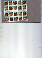 us scott # 3492b 34c xf mnhog convertible bklt of (20) stamps sa Apple/orange 20