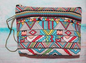 Aztec design Fair Trade Wash Bag Make Up Bag Hand Made Unique Designer