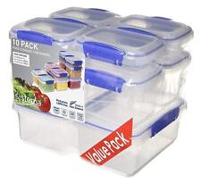 Sistema 10 Pack Food Storage Container Meal Containers Plastic BPA