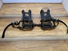 Wellgo MT-14 L & R  M085 Toe Cages And Straps Pair - Taken Off New Bike!