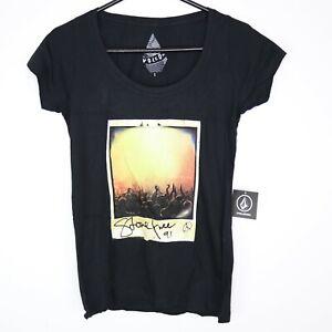 Volcom Nature Call Short Sleeve T-Shirt Black Womens Size S