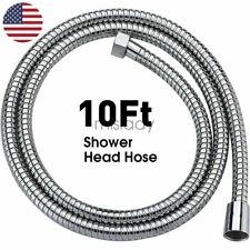 10Ft Shower Head Hose Handheld Extra Long Stainless Steel Bathroom Flexible