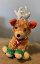 "Winkeez 2015 Holiday Christmas Brown Rendeer Winter Stuffed Animal Plush Toy 7"""