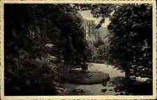 Heidelberg s/w Postkarte 1934 gelaufen Blick auf Schloß und Scheffel Denkmal