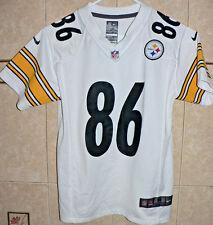 Pittsburgh Steelers NFL #86 Lil Ward White NIKE Jersey KIDS MEDIUM Size 10/12