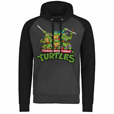 Officially Licensed Tmnt - Turtles Distressed Group Baseball Hoodie S-Xxl Sizes