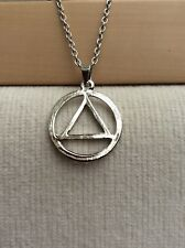 Free Gift Bag Eminem Slim Shady ILLUMINATI Pyramid Silver Plated Necklace Chain