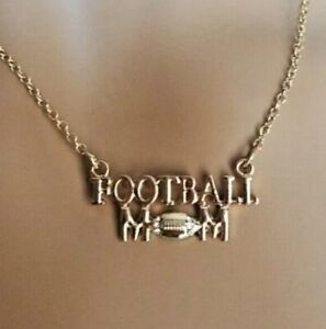"Football Mom Necklace Fashion Jewelry 17"" gold tone NWT"
