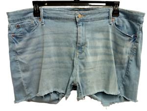 *Levis blue denim spandex stretch multi pockets modern shorts 22/W36