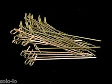 120 Disposal Bamboo Teppo Gushi Skewers Knotted Skewer Cocktail Stick 15cm