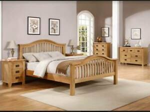 6 Piece Minnesota Bedroom Set Oak Finish Quality  LOCAL DELIVERY Assembly Option