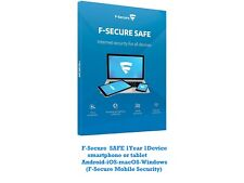 F-Secure  SAFE 1Y 1Device smartphone, tablet ,PC  for Android-iOS-macOS-Windows