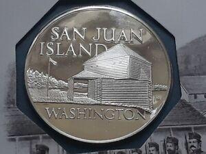 1972 Franklin Mint, proof silver medal  WASHINGTON-SAN JUAN ISLAND