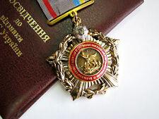 Ukraine Police Badge Award Medal For Сombating Human Trafficking + Doc