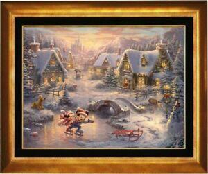 Thomas Kinkade ~ Mickey and Minnie – Sweetheart Holiday ~ 18x24 S/N Canvas