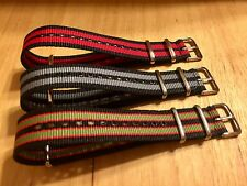 Canvas Watch Band Strap Nylon 20mm Lot X3 For ALL BRANDS JCrew TIMEX Weekender