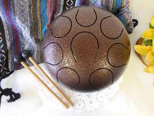 "WuYou 8"" 19cm Steel Tongue Drum Handpan Tank, F Note, Free Bag+ 2mallets, Bronze"