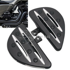 Black Motorcycle Rear Passenger Floorboards for Harley Touring Street Glide FLHT