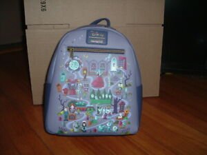 LOUNGEFLY DISNEY HAUNTED MANSION MAP MINI BACKPACK~ WITH TAGS~ BRAND NEW~