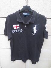 Polo RALPH LAUREN n°3 ENGLAND shirt noir custom Fit manches courtes S 9f002ba1c38c