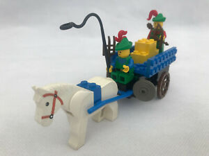 RARE Vintage Lego 1680 - Forestmen : Hay Cart With Smugglers with Instructions!