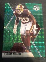 2020 Panini Mosaic Football LANDON COLLINS Green Mosaic PRIZM #199 - Redskins