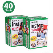 40films Instax mini White Instant Film For Mini 7s 8 9 25 50 90 Camera
