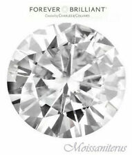 Loose Round Forever Brilliant 3mm Moissanite = .10 CT Diamond with Certificate