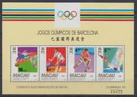 MACAU - Michel-Nr. Block 19 postfrisch/** (Olympische Spiele / Olympics 1992)