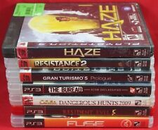 Video Game Lot Of 7 - Sony PlayStation 3 - Resident Evil 5 FUSE Gran Turismo 5